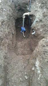 水道メーター器移設工事1