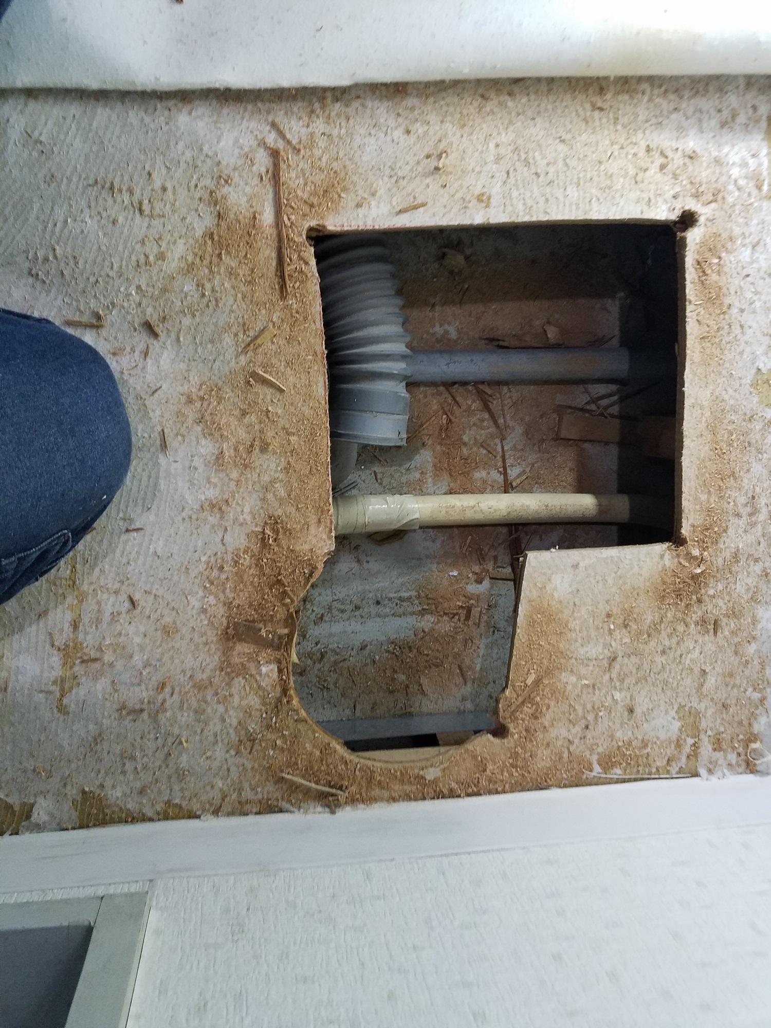 マンション洗濯排水修理